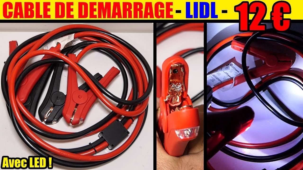 cable de demarrage lidl ultimate speed essence diesel jump. Black Bedroom Furniture Sets. Home Design Ideas