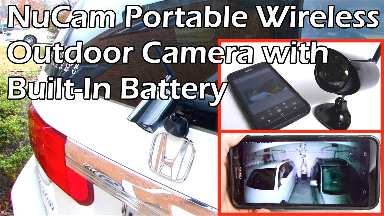Nucam Hd Wireless Portable Camera With Built In Battery