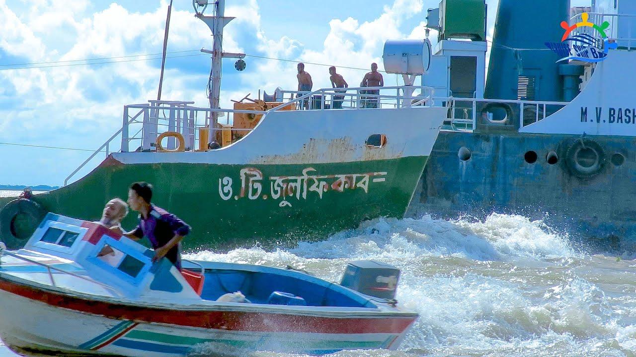 😱😱ভয়ঙ্কর তীব্র স্রোতের মুখে জাহাজের একি কান্ড || দেখুন মেঘনা নদীর ভয়াবহ রূপ || Cruise Ship BD