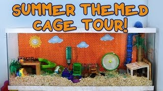SUMMER Themed Hamster Cage Tour! Thumbnail