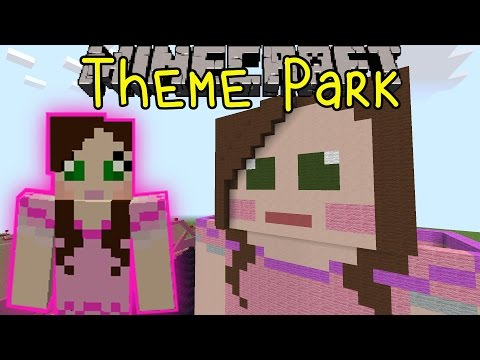 Minecraft: SUPERGIRLYGAMER AMUSEMENT PARK (Custom Map) Part 1