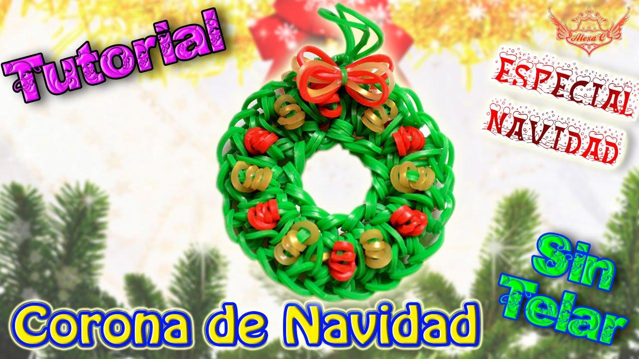 Tutorial especial navidad corona de navidad sin telar - Como hacer coronas de navidad ...