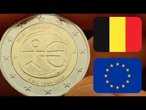 Belgium 2009, 10th anniversary of Economic and Monetary Union, commemorative 2 euro coin