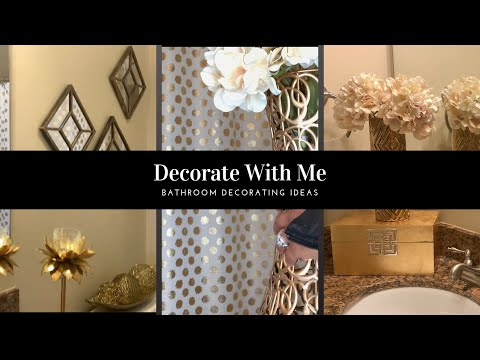 DECORATE WITH ME ON A BUDGET | BATHROOM DECOR IDEAS| SMALL SPACE
