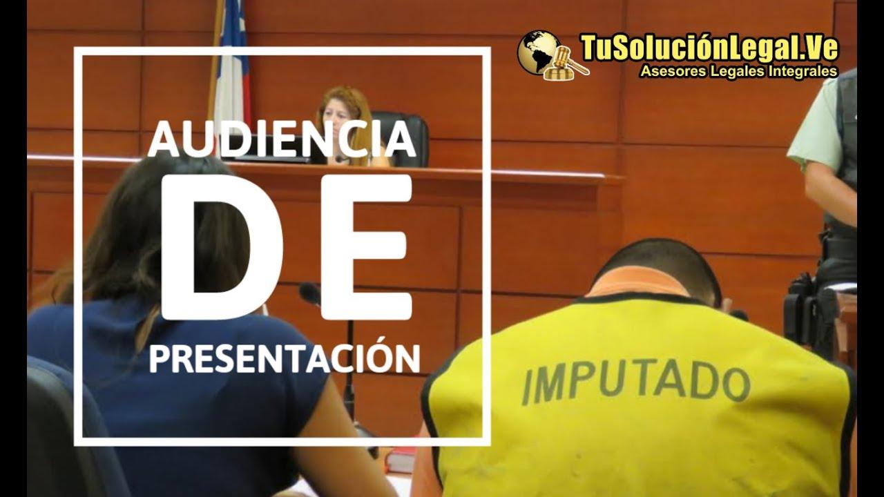 Tusolucionlegal: Audiencia de Presentación de Imputados