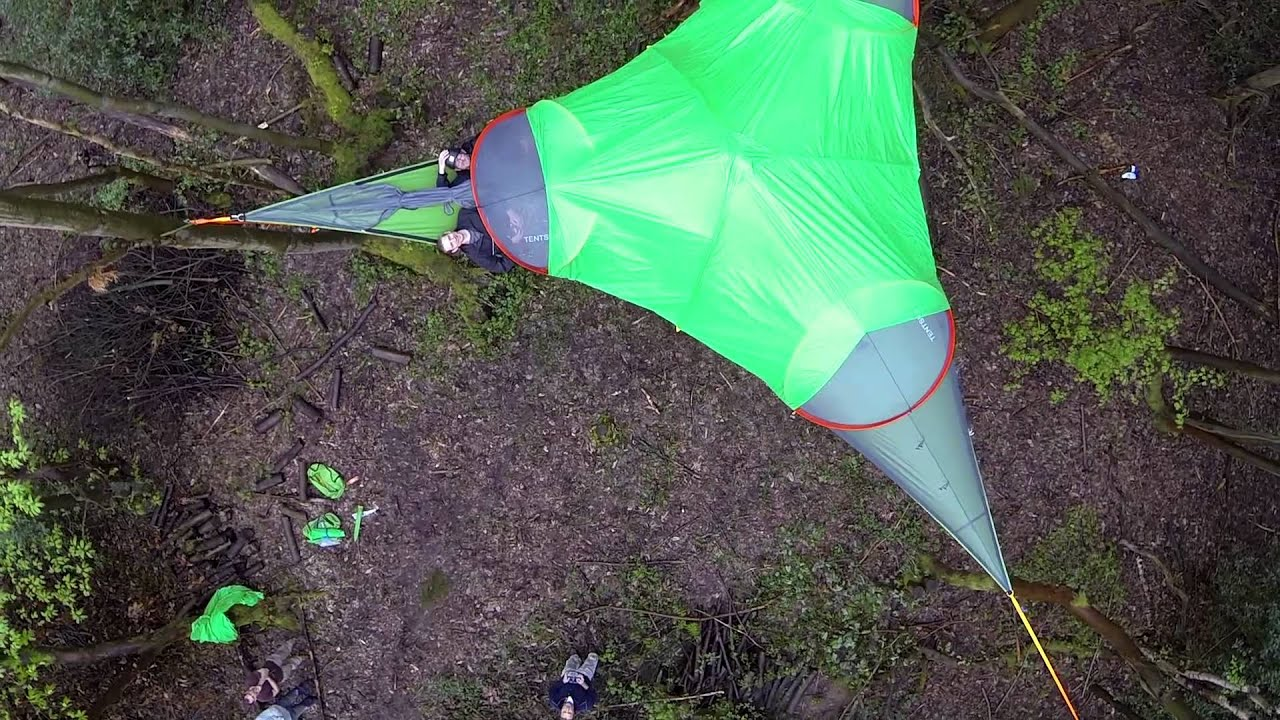 Tentsile tree tent Connect April 2014  YouTube