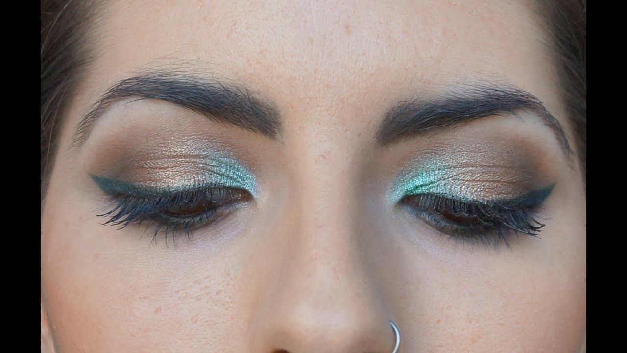 Make up bronzo, oro e verde acqua tutorial (Naked2 + I ...