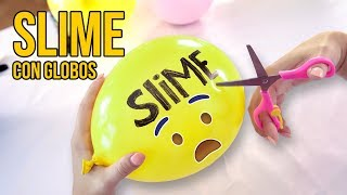 HAZ SLIME EXPLOTANDO GLOBOS - SLIME BALLOON CHALLENGE (Experimentos Caseros)