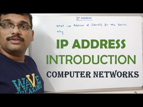 19 - IP ADDRESS INTRODUCTION - COMPUTER NETWORKS