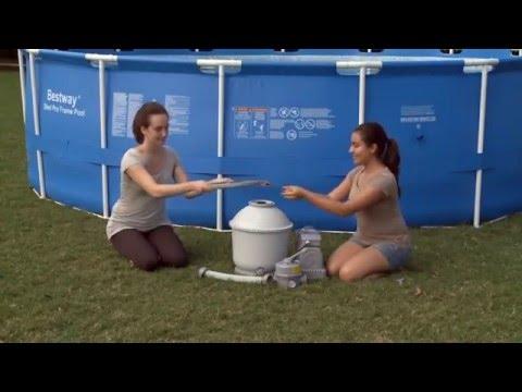 C mo instalar depuradora de arena de piscinas - Depuradoras de arena para piscinas desmontables ...