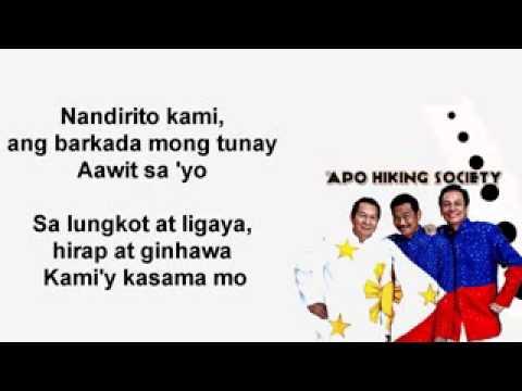 Awit Ng Barkada   APO Hiking Society Video Lyrics