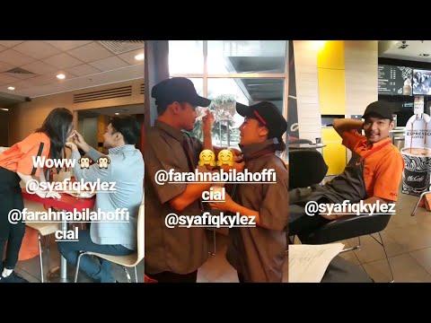 Sweetnya! Syafiq Kyle & Farah Nabilah saling suap menyuap | Mocha Kau Bahagia