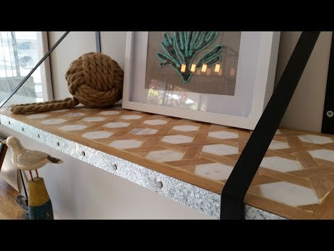DIY Project Parquetry Kmart Shelf