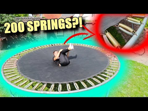 WHAT IF YOU DOUBLE THE SPRINGS ON A TRAMPOLINE?!