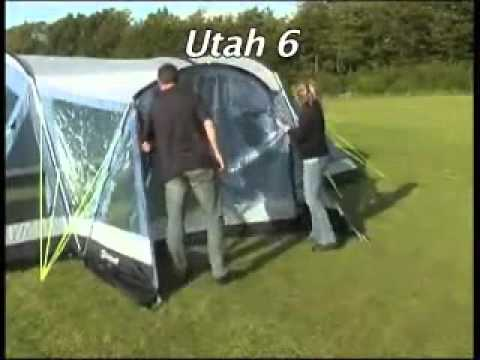 Putting up Outwell Utah Tent & Putting up Outwell Utah Tent - YouTube