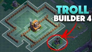 BH4 Troll Base | Builder Hall 4 Base Funnel Traps + Replays | Clash Of Clans