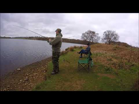 Trout Fishing Fontburn Reservoir Northumberland.