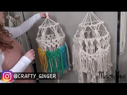 How To Tutorial: Macrame Lantern / Baby Mobile Intermediate Pattern