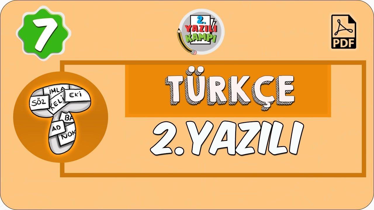 7. Sınıf Türkçe | 1. Dönem 2. Yazılıya Hazırlık