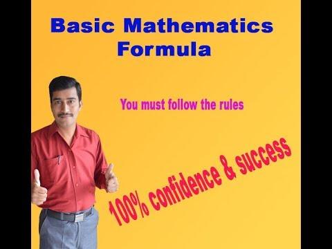 Mathematics basic formula 100% success in maths