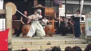 Kaori Kawabuchi  尾久八幡神社 奉納剣舞