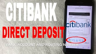 ✅  Set Up CitiBank Direct Deposit Instructions 🔴