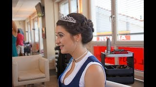 So geht's: Die Lieblings-Hochsteckfrisur unserer Miss Herbstfest 2018