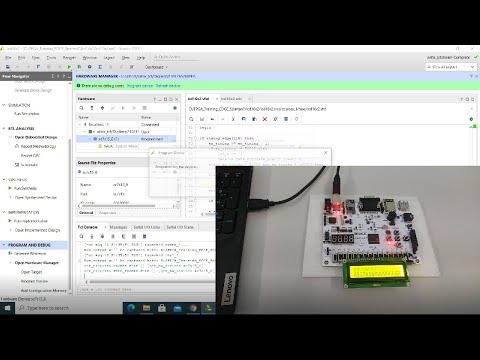 Learn FPGA 9: Displaying message on 16x2 LCD using EDGE Spartan 7 FPGA kit