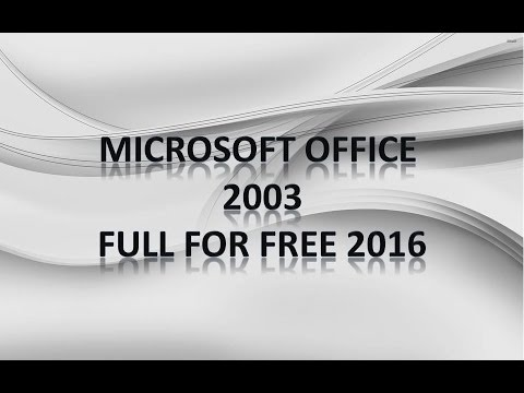 How To Get Microsoft Office 2003 Pack For Free 2016