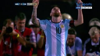 Gol de Lionel Messi - Argentina vs Chile (1-0) Eliminatorias Russia 2018 - FULL HD