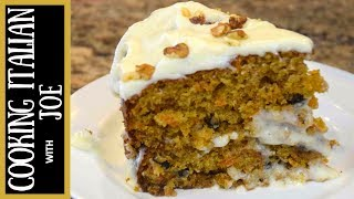 How to Make World's Best Carrot Cake Cooking Italian with Joe