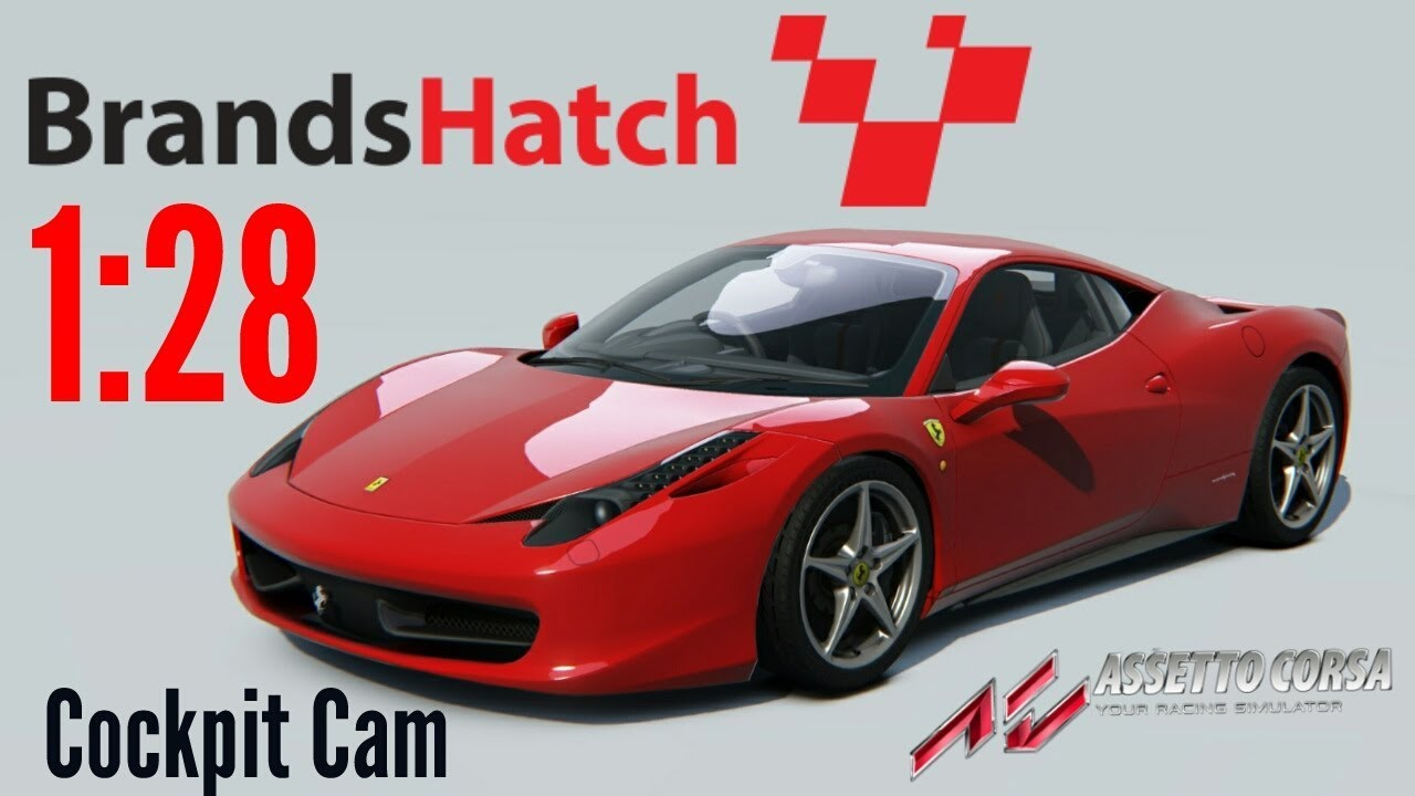 assetto corsa gameplay ferrari 458 italia cockpit camera ps4 1 28 brands hatch grand prix. Black Bedroom Furniture Sets. Home Design Ideas