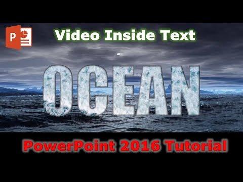 Cara Mengisi Teks Dengan Video Di PowerPoint 2016   Tutorial Grafik Gerak