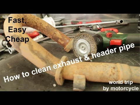 How to Clean Exhaust and Header Pipe Rust