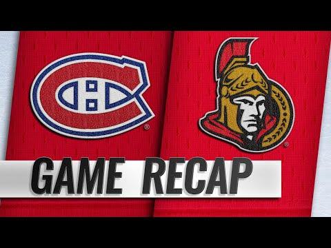 Byron, Shaw help Canadiens take down Senators, 5-2