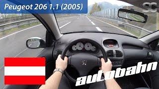 Peugeot 206 1.1 (2005) on Austrian Autobahn - POV Test Drive