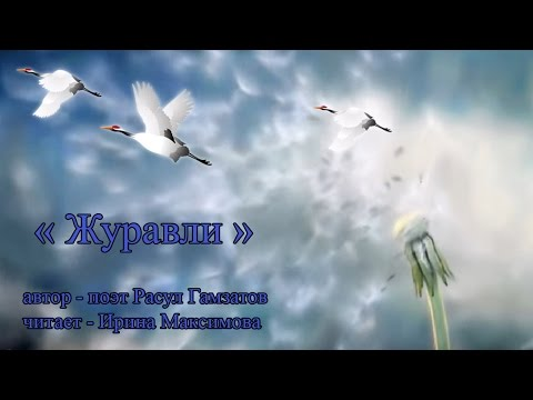 """Читаю стихи: Расул Гамзатов """"Журавли"""" - в честь 9 Мая посвящается"""