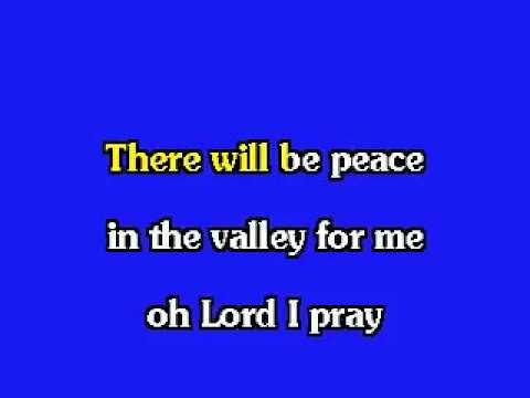 ELVIS KARAOKE PEACE IN THE VALLEY - YouTube
