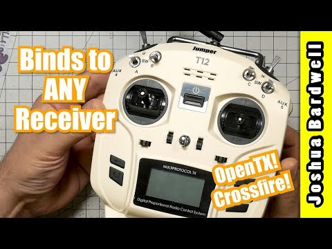 Jumper T12 Multiprotocol RC Controller  OPENTX AND CROSSFIRE TOO!
