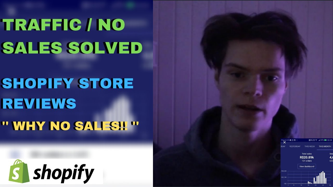 Traffic But No Sales SOLVED / Store Reviews - Shopify Dropshipping