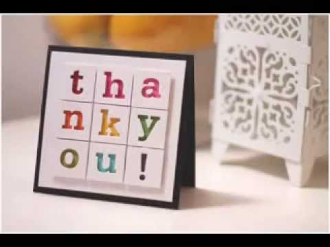 Diy Scrapbook Thank You Card Ideas Youtube