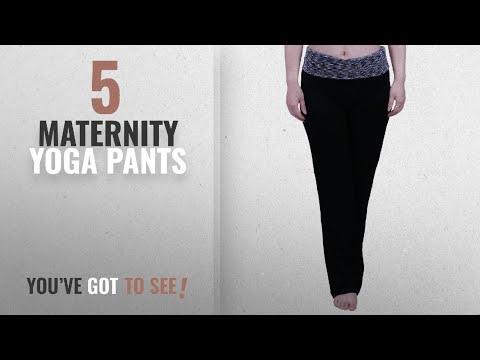 Top 10 Maternity Yoga Pants [2018]: HDE Women's Maternity Yoga Pants Comfortable Lounge Pregnancy