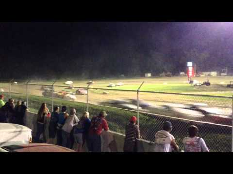 34 raceway 8-1-15 stock car feature pt1