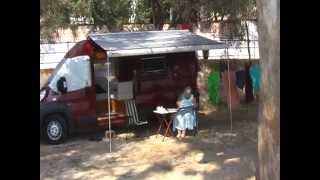 Deep Red Motorhome in Plataria, Greece