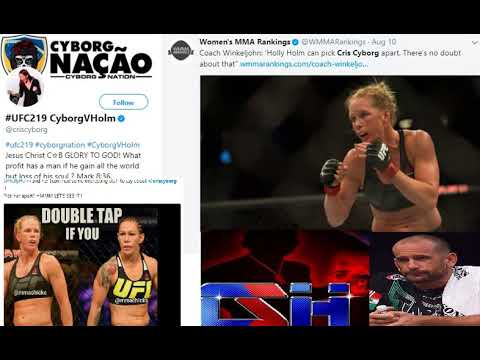 Cris Cyborg Trolling Team Holly Holm This Is Winklejohn's Fault How Is He Gonna Explain This?