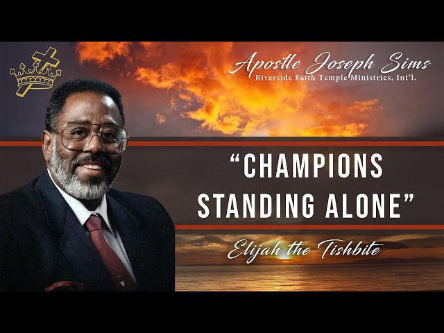 Audio Sermon - Champions Standing Alone - 2 Kings 1:1-18