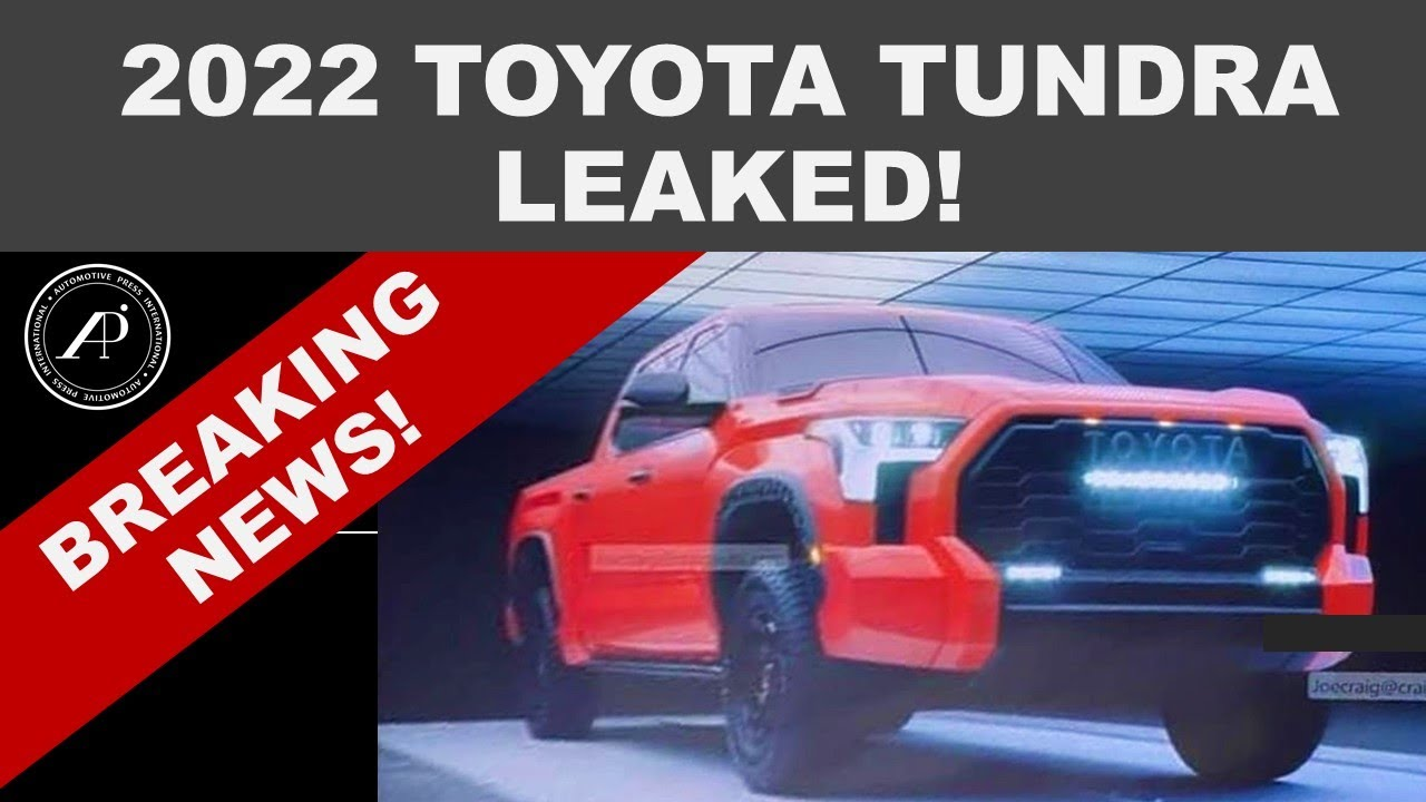 BREAKING NEWS! 2022 TOYOTA TUNDRA LEAKED! ACTUAL PHOTO SHOWN FOR THE FIRST TIME!