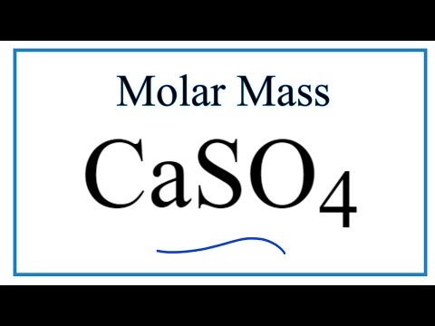 Molar Mass / Molecular Weight Of CaSO4: Calcium Sulfate