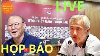 🔴 Việt Nam và UAE họp báo trước trận, NVTDtv hỏi thầy Park điều gì?