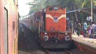 6 IN 1 GANPATI SPECIAL TRAINS ON KONKAN RAILWAYS - COMPILATION